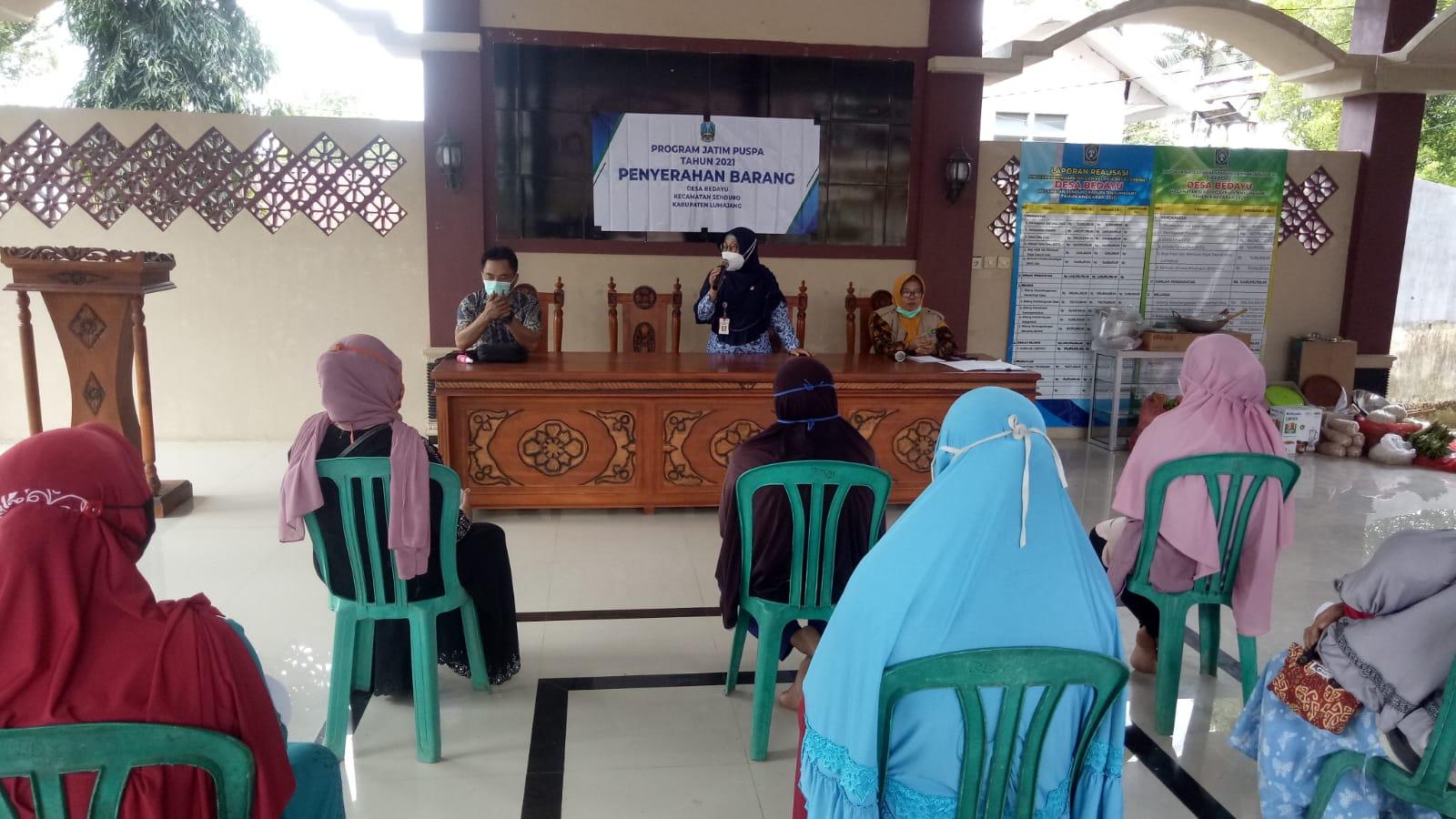 Acara Penyerahan Barang Bantuan Program Jatim Puspa TA 2021 Provinsi Jatim