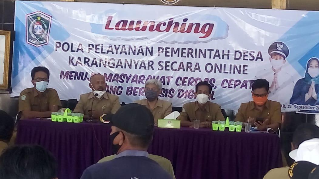 Launching Pola Pelayanan Pemerintah Desa Karanganyar Secara Online