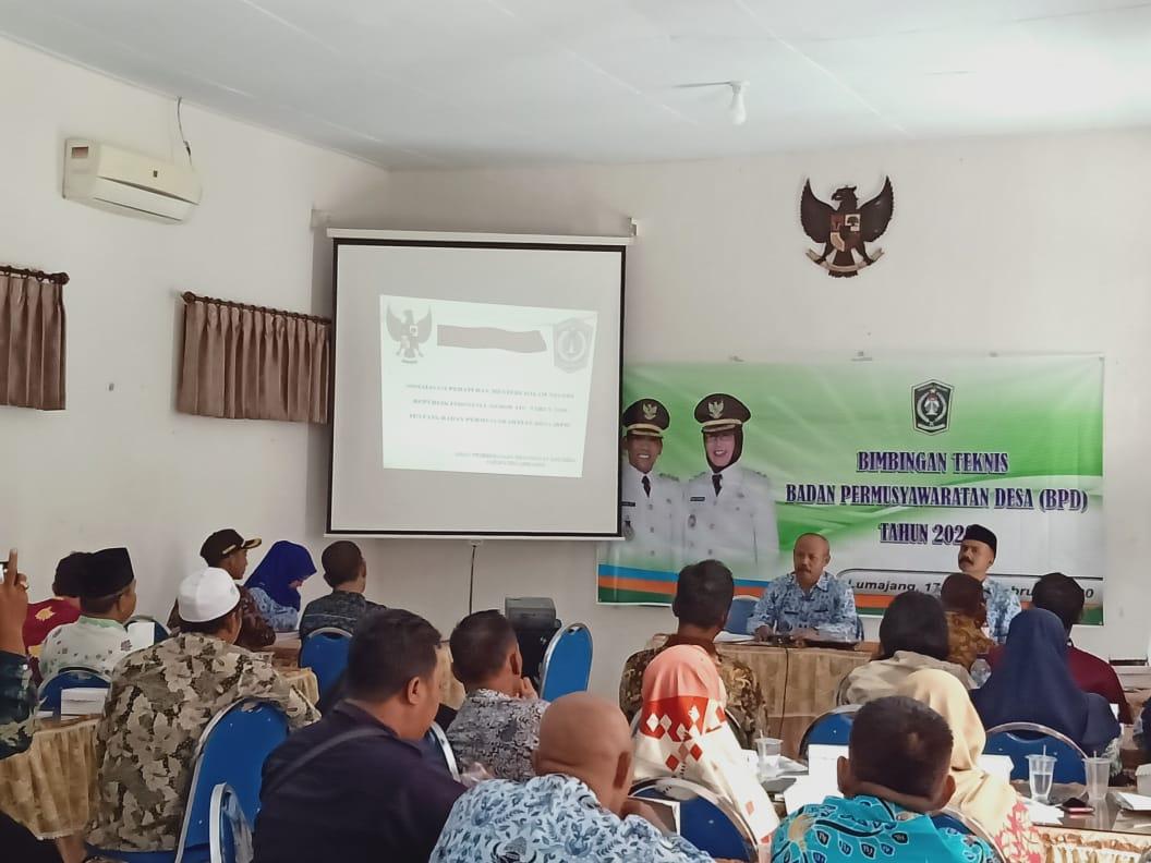Bimbingan Teknis Badan Permusyawaratan Desa (BPD) Tahun 2020